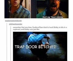 sam winchester, bobby singer, and funny image