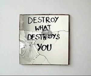 bathroom, destroy, and mirror image