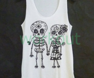 candy skull, etsy, and summer wear image