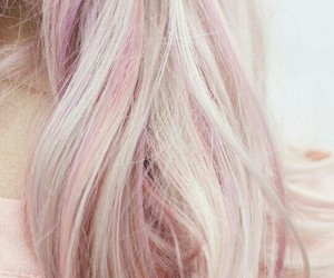 hair, pink, and white image