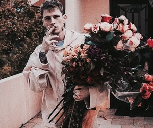 ️mgk, flowers, and machine gun kelly image