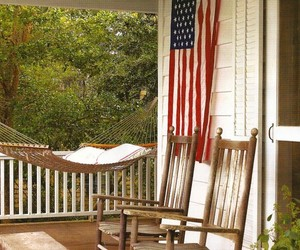 american flag, farmhouse, and home decor image