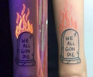 glow, glow in the dark, and tatouage image