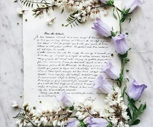 flowers, quote, and Letter image