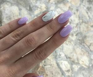 lilac, long nails, and marble image