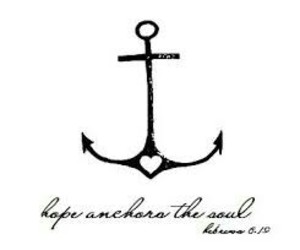 anchor, hope, and tattoo image