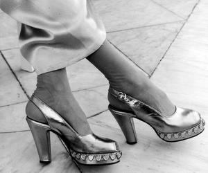 dress, heels, and retro image