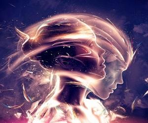 girl, art, and light image