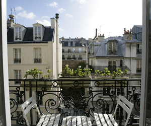 balcony, city, and paris image