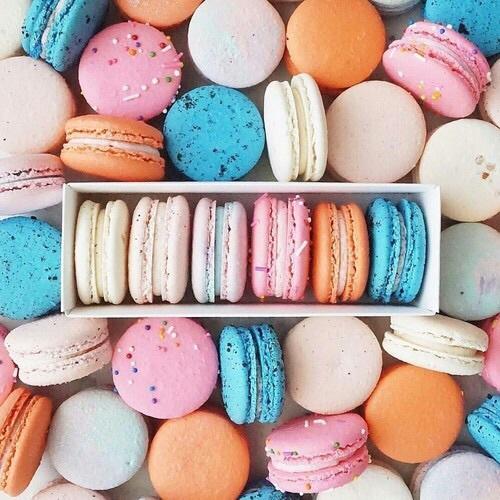 food, macarons, and aesthetic image