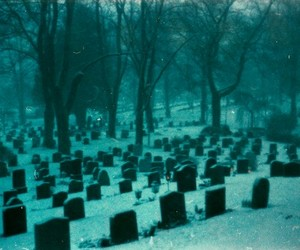 aesthetic, cold, and graveyard image