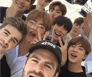 bts, bbmas, and chainsmokers image