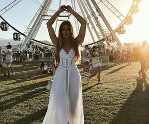 coachella, summer, and dress image