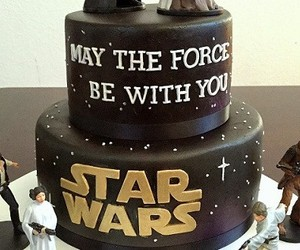 birthday, cake, and star wars image