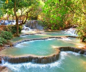 waterfall, beautiful, and landscape image