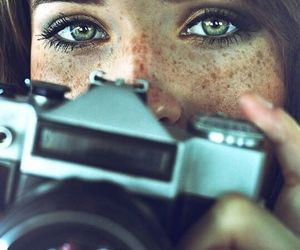 girl, eyes, and photography image