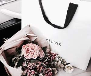 flowers, celine, and shopping image