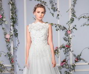 bridal, wedding gown, and dress image