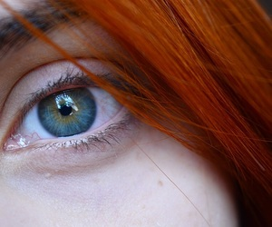 eyes, ginger, and green image