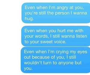hurt, text, and love image