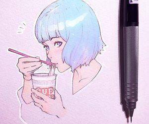 amazing, art, and blue hair image