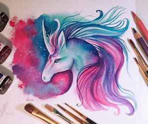 unicorn and drawing image