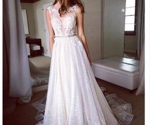 dress, pretty, and wedding image