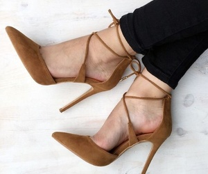 brown, glam, and shoes image