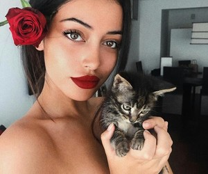 beauty, girls, and kittens image