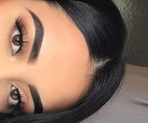 makeup, eyebrows, and beauty image