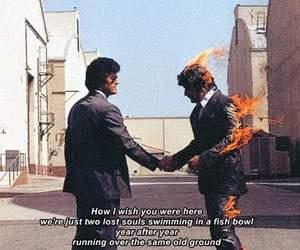 Pink Floyd, Lyrics, and wish you were here image