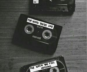 blackandwhite, cassettes, and tumblr image