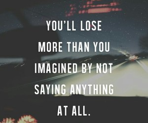 quotes, lose, and imagine image