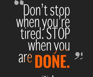 quotes, motivation, and don't stop image