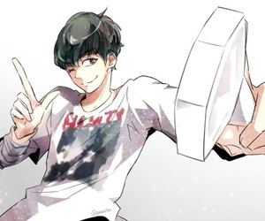boy, fanart, and exo image