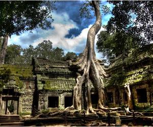angkor wat, Cambodia, and world heritage image