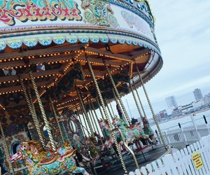 brighton, carousel, and brighton pier image