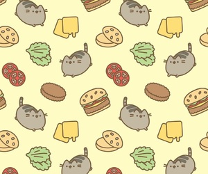 cat, pusheen, and food image