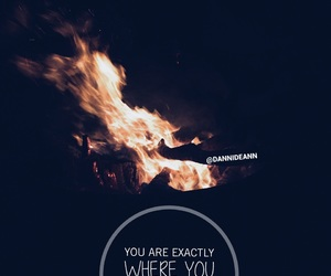 bonfire, quote, and teen image