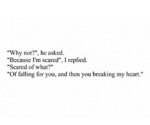 quote, scared, and tumblr image