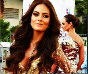 makeup, hair waves, and ximena navarrete image