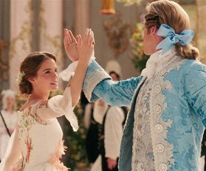 beauty and the beast, belle, and dan stevens image