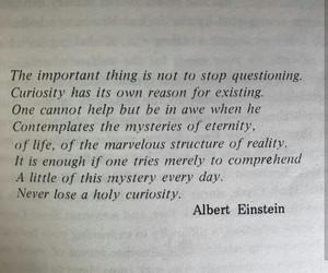 Albert Einstein, curiosity, and every day image