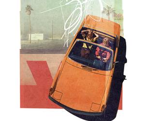 car, couple, and retro image