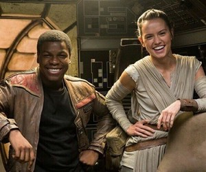 finn, star wars, and rey image