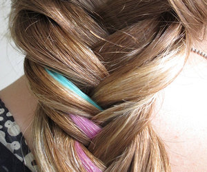 braids, fishtail, and hair image