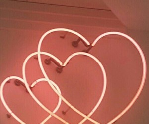 heart, neon, and aesthetic image