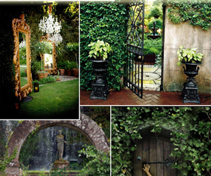 garden ideas, hidden gardens, and gardens door image
