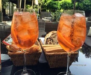 drink, orange, and food image