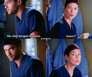 meredith grey, jackson avery, and lol image